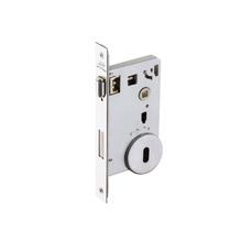 Fechadura para Portas Pivotante Trinco Rolete 55mm Latão Cromado Acetinado IZ1710G40 Imab