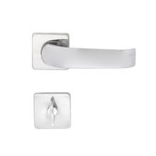 Fechadura Porta de Banheiro 40mm Aço Cromado Una Z Arouca