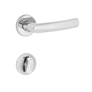 Fechadura Porta de Banheiro 40mm Aço Polido Brava P Arouca