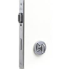 Fechadura WC Trinco Rolete 55mm Aço e Zamac Cromado Prata Trinco Rolete Arouca