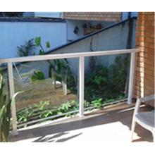 Fechamento de Sacada com Bandeira Fixo Vidro|Alumínio 10mm Verde C&R