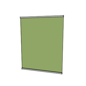 Fechamento de Sacada Fixo Vidro Verde 8mm NF Baldex