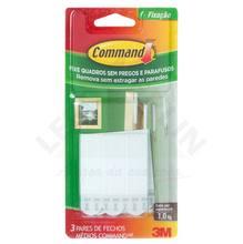 Fecho Command Médio Branco 3M
