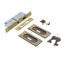 Fecho Concha para Porta Aço Latonado Oxidado 160x20x43mm União Mundial