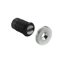 Fecho para Móveis Magnético 8x14mm Aço Preto Hettich