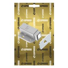 Fecho para Móveis Magnético  Cinza 15x28,5mm Soprano