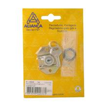 Fecho para Móveis Simples Aço e Zamac Cromado 0,03x0,1mm F1000 NI Aliança