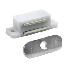 Fecho para Móveis Toque Magnético Polietileno Fosco Branco 12x45mm Viva Bricolage
