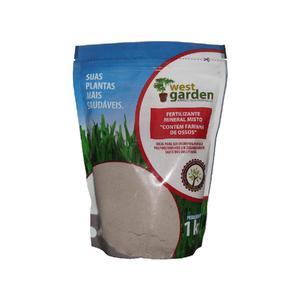 Fertilizante Farinha de Osso 1Kg West Garden