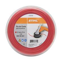 Fio de Nylon 2,7mm 72m Vermelho Stihl