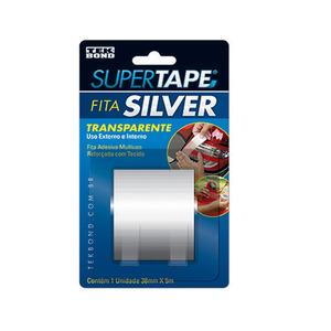 Fita Adesiva Silver Incolor 38mm x 5m Tekbond
