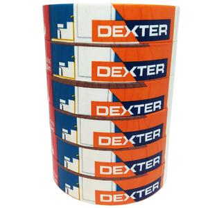 Fita Crepe Branca 25mm x 50m com 6 Unidades Dexter