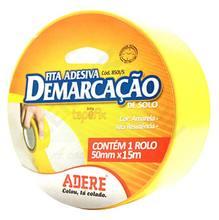 Fita Demarcação 5,0cmx15m Amarela Adere