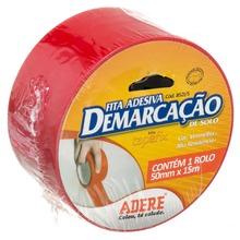 Fita Demarcação 5,0cmx15m Vermelha Adere