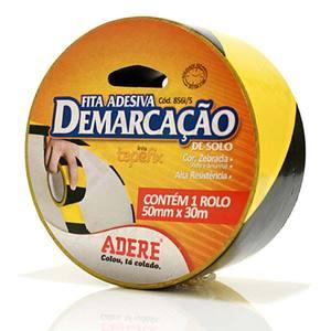 Fita Demarcação 5,0cmx30m Preta e Amarela Adere