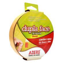 Fita Dupla Face 2,5cmx10m Branca  Adere