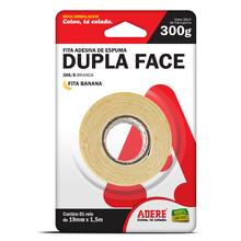 Fita Dupla Face Espuma Branca 19mm x 1,5m Adere