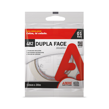 Fita Dupla Face Papel 12mm x 30mm Adere