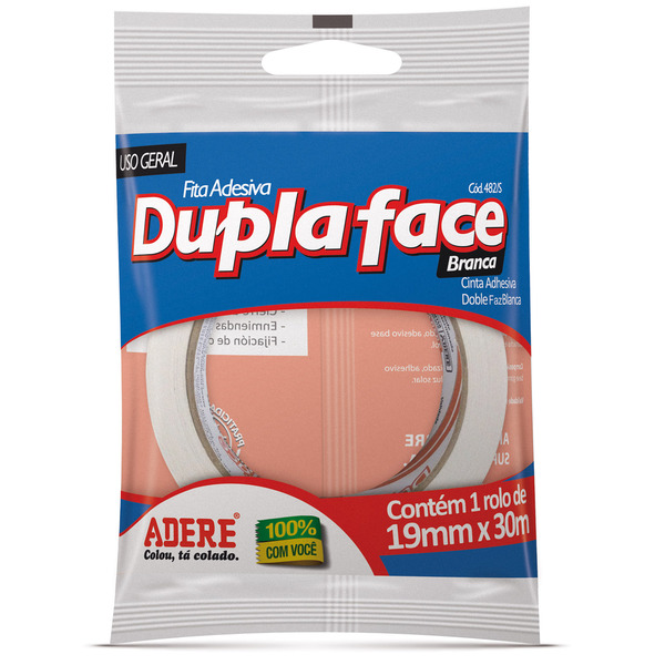 Fita Dupla Face Papel 19mm x 30m Adere   Leroy Merlin 472cd08dc1