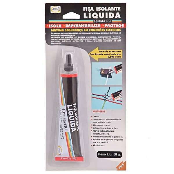 Fita isolante liquida 50 gramas preto quimatic tapmatic for Guaina liquida leroy merlin