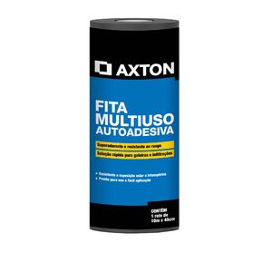Fita Multiuso Asfática Autoadesiva 45cmx10m Axton