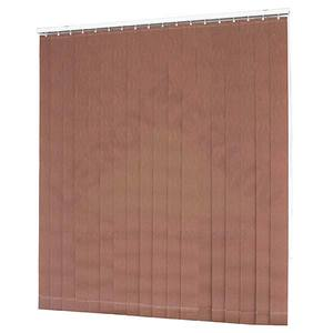 Fita persiana Vertical Tecido 0,09x1,60m Marrom Tecnarte