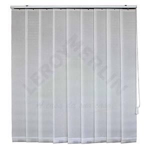 Fita persiana Vertical Tecido 0,18x1,60m Branco Tecnarte