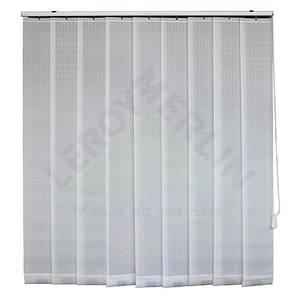 Fita persiana Vertical Tecido 0,18x2,20m Branco Tecnarte