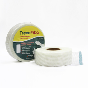 Fita Telada Autoadesiva Drywall 90mx48mm Trevo