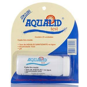 Fita Teste para Piscina Tratada com Aqualid 25 Tiras