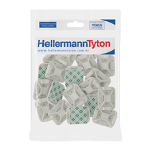 Fixador Adesivo 32x25mm 20Unidades Hellermann