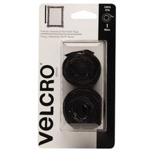 Fixador Auto Adesivo Extra Forte Perfil fino Fita 90cm x 2,5cm 1 jogo Preto Velcro