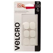Fixador Auto Adesivo Extra Forte Perfil fino Oval 2,5cm x 1,9cm 6 jogos Branco Velcro