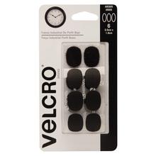 Fixador Auto Adesivo Extra Forte Perfil fino Oval 2,5cm x 1,9cm 6 jogos Preto Velcro