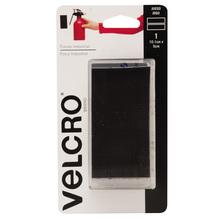 Fixador Auto Adesivo Extra Forte Tiras 10,1cm x 5cm 1 jogo Preto Velcro