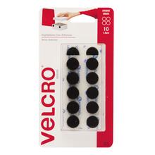 Fixador Auto Adesivo Moedas 1,5cm 10 jogos Preto Velcro