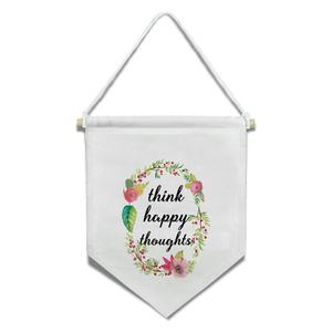 Flâmula Coroa Flores Happy 33x30cm