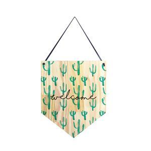 Flâmula de Madeira Cactus 30x25cm