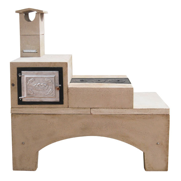 Fog o lenha concreto refrat rio pr moldado 3 bocas com for Forno leroy merlin