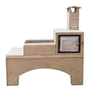 Fog o lenha concreto refrat rio 3 bocas esquerdo com forno for Forno leroy merlin