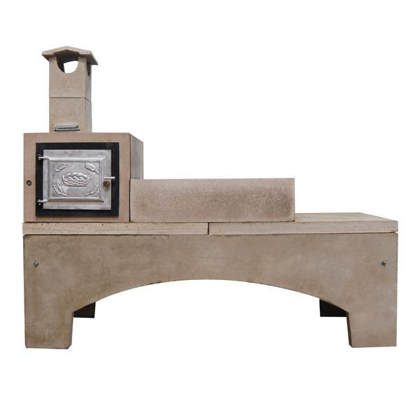 Fog o lenha concreto refrat rio pr moldado 4 bocas com for Forno leroy merlin