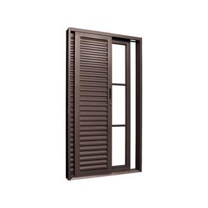 Folha de Porta Balcão de Metal Alumínio Ambos os Lados 2,15x0,98m Gravia