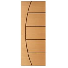 Folha de Porta de Giro Decorada de Madeira Imbuia 2,10x0,90m Randa