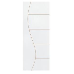 Folha de Porta de Giro Decorada de Madeira Pinus 2,1x0,70m Seiva Camilotti