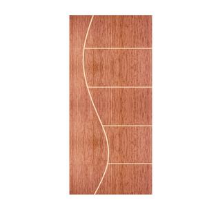 Folha de Porta de Giro Decorada de Madeira Pinus 2,1x0,72m Seiva Camilotti