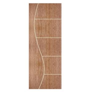 Folha de Porta de Giro Decorada de Madeira Pinus 2,1x0,80m Seiva Camilotti