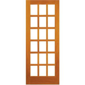 Folha de Porta de Giro Vidro de Madeira Maciça Cedro Ambos os Lados 2,10x0,80m 336 Galon