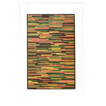 Folha de Porta Pivotante Decorada Madeira Eucalipto Ambos os Lados 2,1x1,2m Wood Group