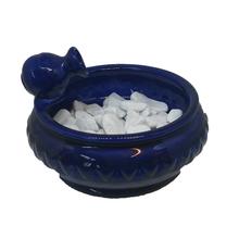 Fonte de Água Cerâmica Oriental Azul 20x12cm 127V(110V)
