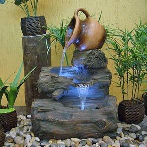Fonte de gua resina tronco vaso tombado 250v 220v 72x50cm leroy merlin - Transformateur 220v 12v leroy merlin ...